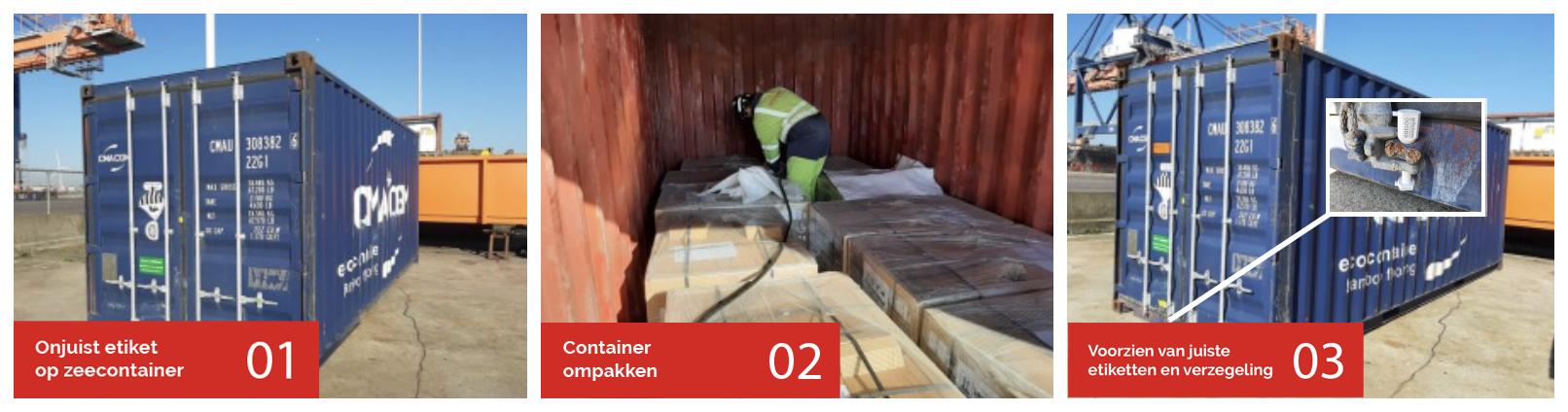 Ompakken en stuwen zeecontainer- Wilchem lost het op
